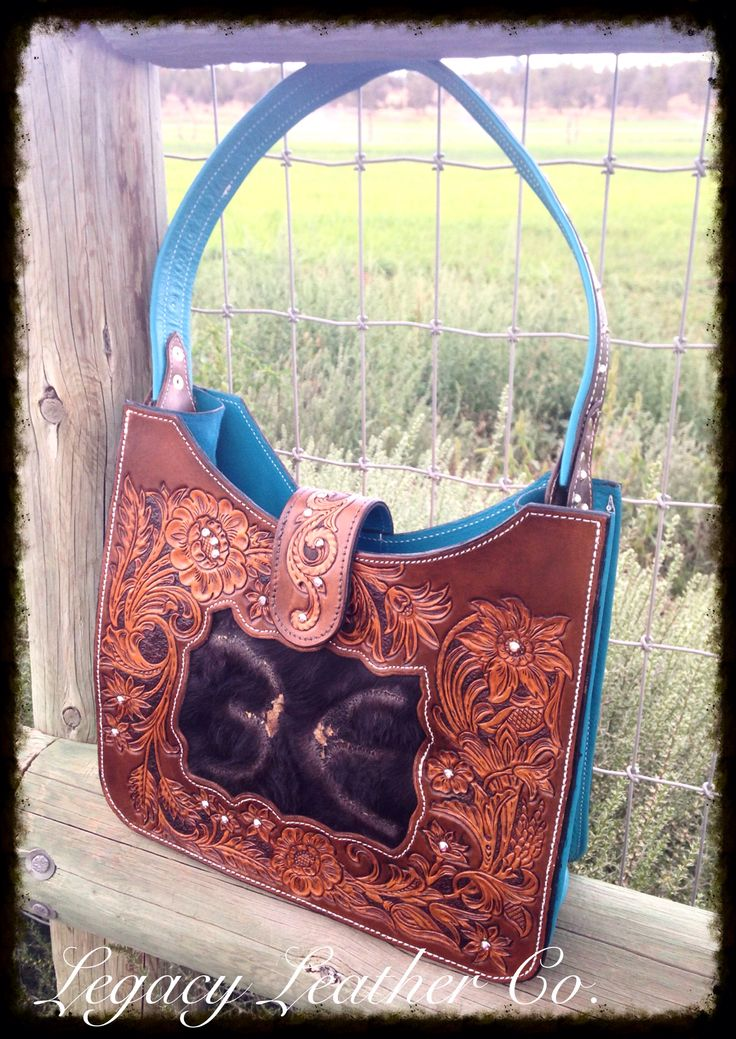 Gorgeous custom purse by Legacy Leather Co. Www.facebook.com/legacyleather