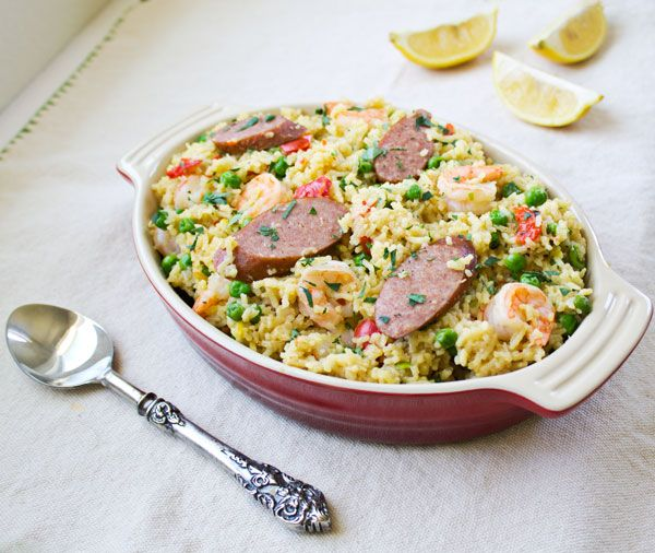 Paella, Shrimp and Sausages on Pinterest