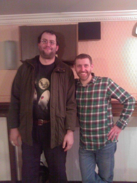 Me with Dave Gorman