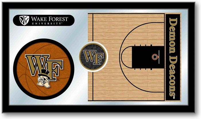 Wake Forest Demon Deacons Basketball Sports Team Mirror at SportsFansPlus.com. Visit website for details!