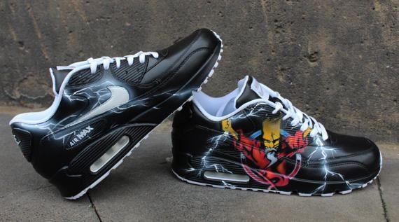 Custom Painted Nike Air max 90 Thunderdome Techno Sneaker