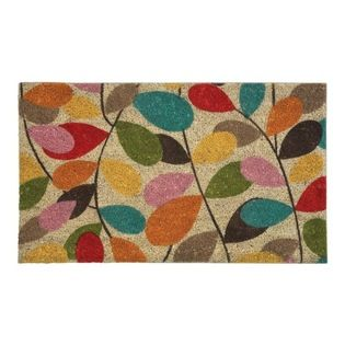 Nonslip Vintage Leaf Print Coir Doormat   Often A Neglected Item Of The  Houseu2026