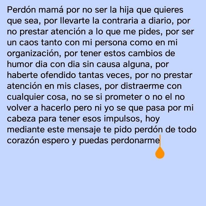 Perdón Mamá Cartas De Perdon Frases Bonitas Para Mama Perdon Mama