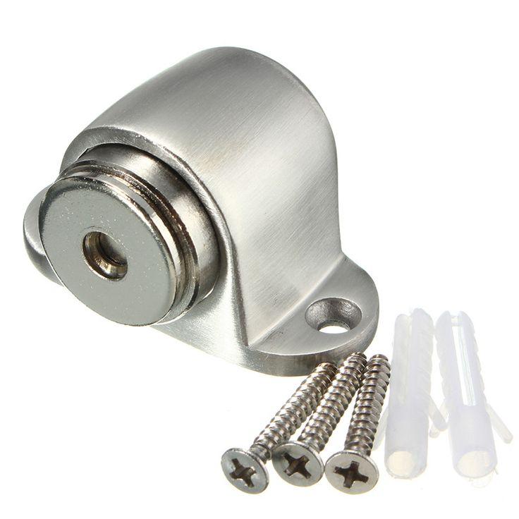 Najnowszy Stal nierdzewna Drzwi Zatrzymaj Korek Magnetyczny Uchwyt Złap Protector Home Decor 53x30x32mm