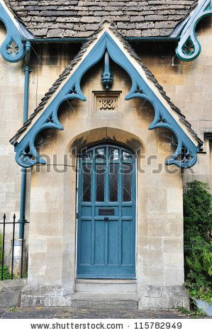 Front Door of a Victorian Era English Cottage by 1000 Words, via ShutterStock
