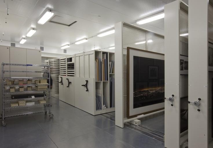 Museum storage equipment by Montel - mechanical mobile storage systems & mobile storage panel systems