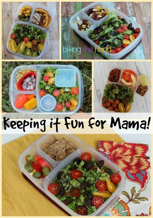 Eating the same healthy salad everyday can get boring. Keep it fun with yummy sides and some artful ingredients! #easylunchboxes #salad #lunchsalads #worklunch #healthy #cleaneating