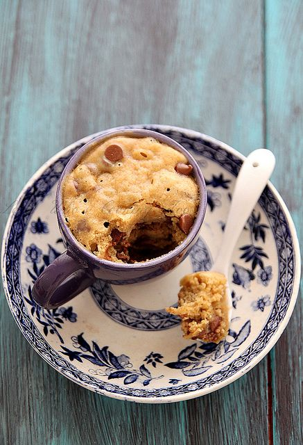Craving a cookie--just one?? Here's the recipe for a one minute cookie (in a mug). Try it right away, you won't regret it!