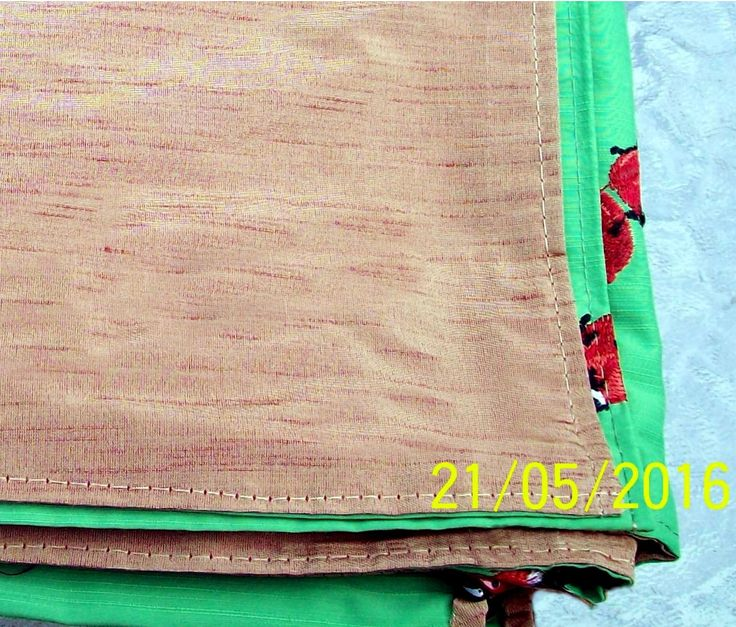 Outdoor table cloth, reverse side in bark pattern.