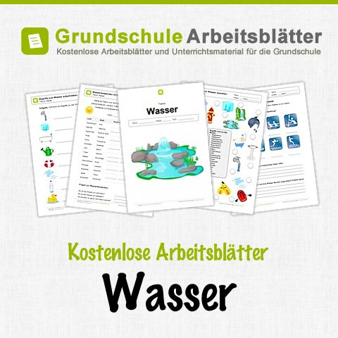 Kostenlose Arbeitsblätter und Unterrichtsmaterial für den Sachunterricht zum Thema Wasser in der Grundschule.