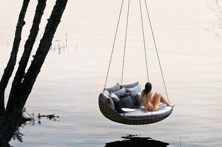 Dedon Swingrest hanging lounger: hanging around