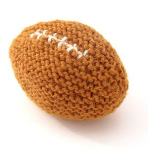 Babys First Football  http://www.allfreeknitting.com/Childrens-Knit-Toys/Babys-First-Football/ml/1