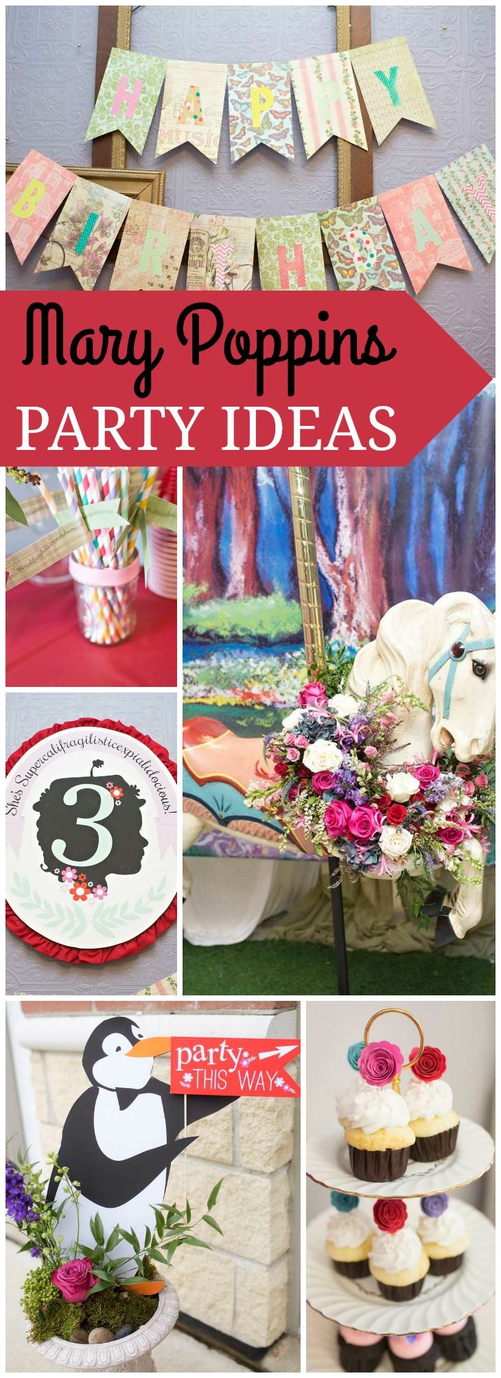 Check out this jolly holiday Mary Poppins birthday party! See more party ideas at CatchMyParty.com!