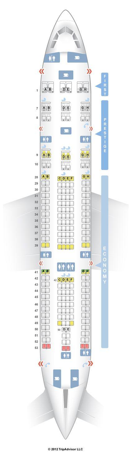 SeatGuru Seat Map Korean Air Airbus A330-200 (332)