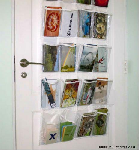 Удобное хранение карточек в прозрачных кармашках