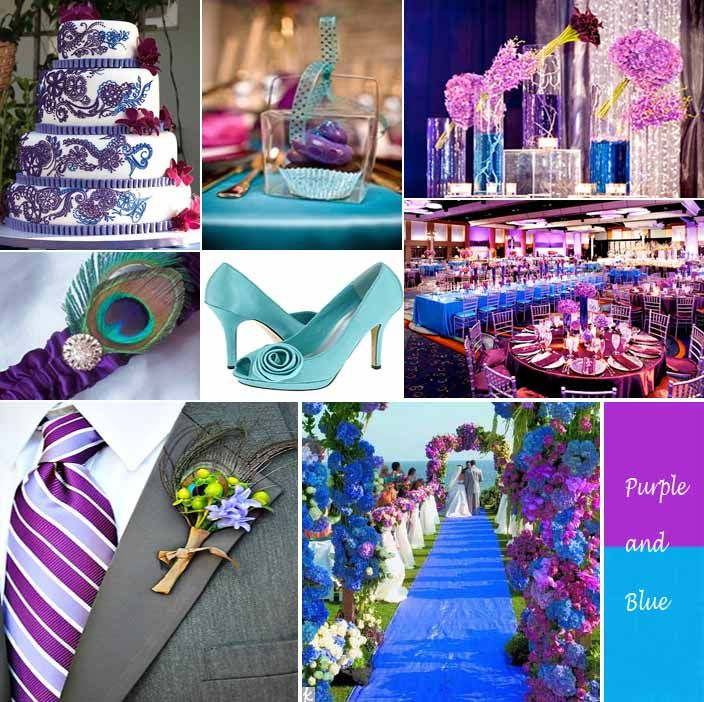 blue weddings | Purple and Blue Wedding Inspiration | Flourish Event Design