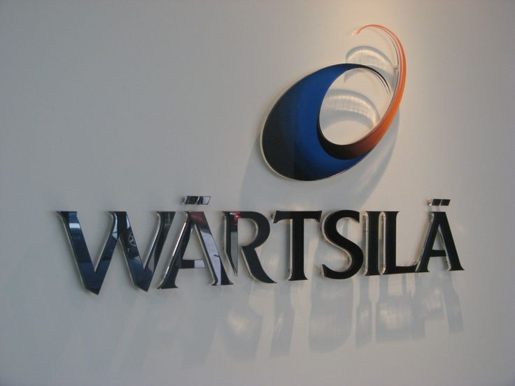 Wartsila #CSI #3D #lettering #custom #sign #CAD #extrusion #signage #name #letter #word #corporate #school #recognition #identity #design