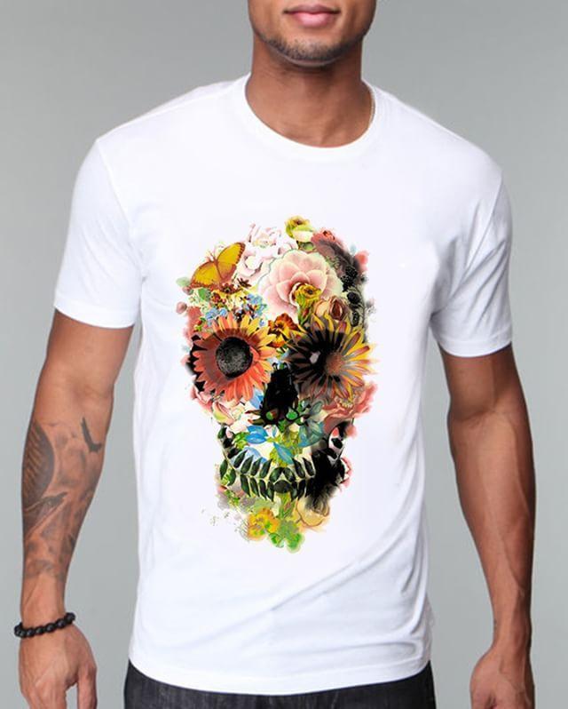 https://www.navdari.com/products-m00262-FLORALSKULLDESIGNTSHIRT.html #modern #art #floralskull #skull #floral #TSHIRT #CLOTHING #Men #NAVDARI