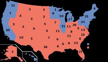 2004, George W. Bush (R) - 286 EV / 62,040,610 (50.7%) PV, John Kerry (D) - 251 EV / 59,028,444 (48.3%) PV
