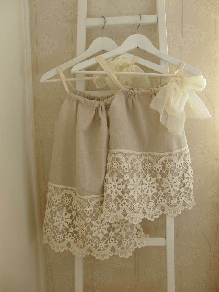 DIY girl dresses. Beautiful lace!
