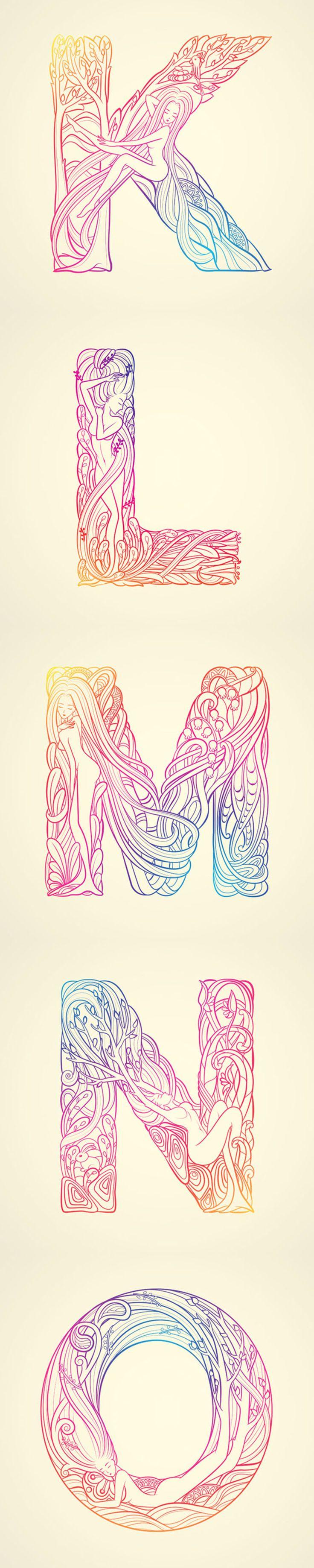 Una tipografía inspirada en la belleza de la mujer y la naturaleza