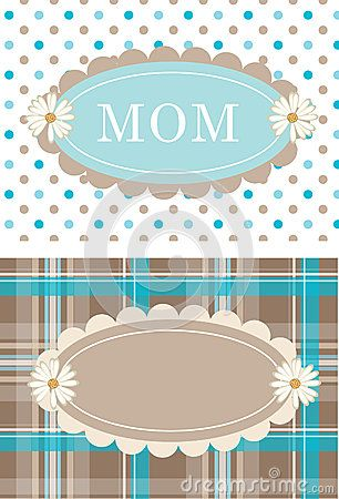 Cute daisy postcards flowers dots and plaid.