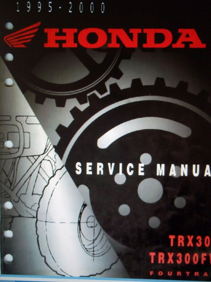 Honda Fourtrax 300 Shop Manual