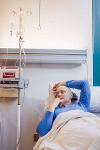 Help your friend during the chemotherapy process.