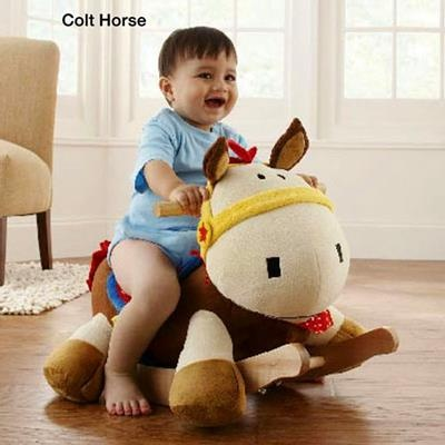 Colt Pony Rocker - Soft Colorful Musical Rocker for Babies and Toddlers - Baby and Toddler Rocker - Rocking Horse Rocker - Soft Musical Rockers for Baby and Toddlers. Best gift in 2011-2012. American-Made Soft, Colorful, Musical Rockers.