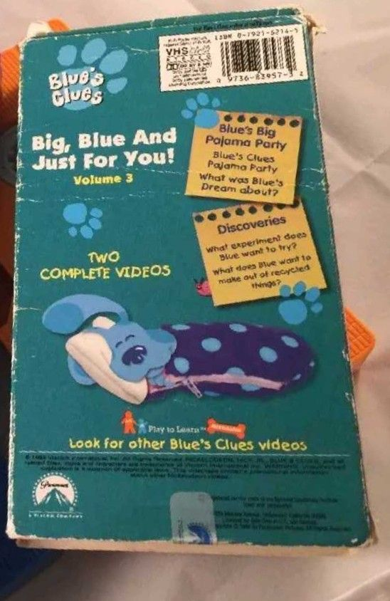 Blues Clues Big Blue And Just For You Volume 3 1999 Vhs Blues