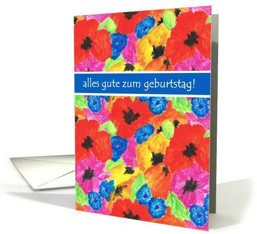 18 best birthday cards german images on pinterest anniversary poppies and cornflowers birthday card german greeting card m4hsunfo