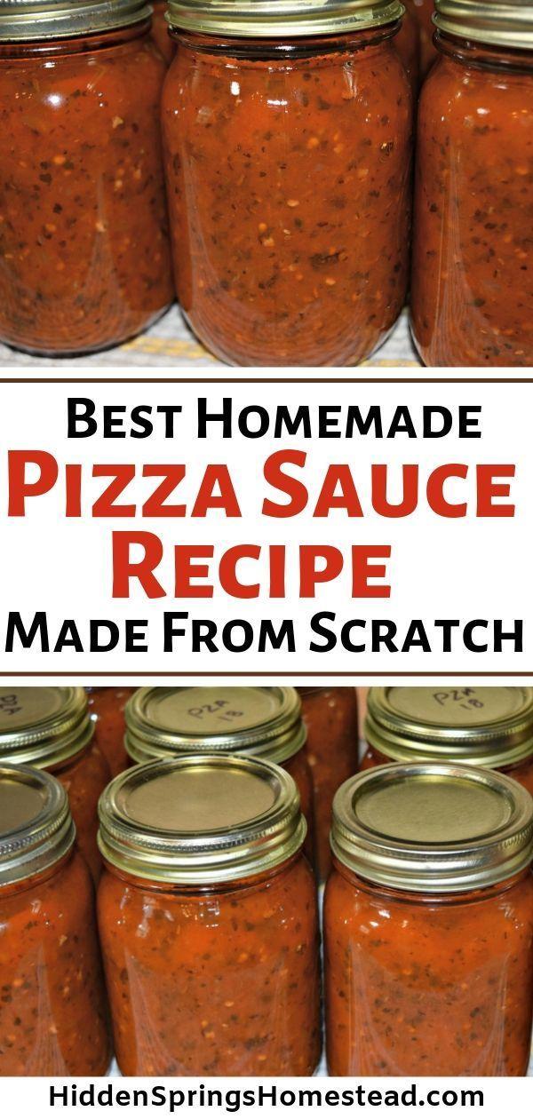 Machen Sie ganz einfach Ihre eigene hausgemachte Pizzasoße! Dies ist die b …   – Canning & Preserving