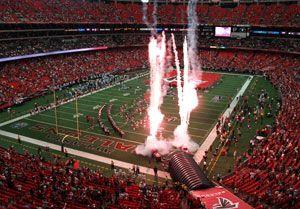 Georgia Dome...  Atlanta Falcons