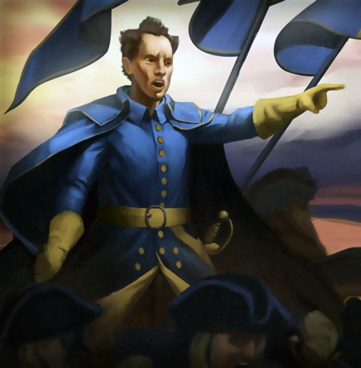 King Charles XII of Sweden leading the Swedish army, Great Northern War