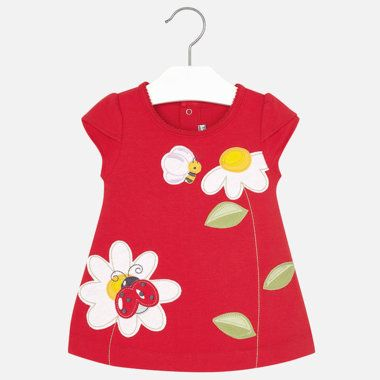 Dievčenské šaty s nášivkou Mayoral - Red