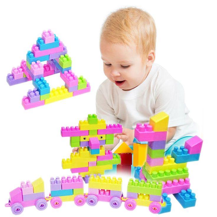 46 Unids Plástico Niños Kid Rompecabezas Educativo Ladrillos de Construcción de Juguete, Creativo DIY Ladrillos Juguetes para Los Niños Juguetes