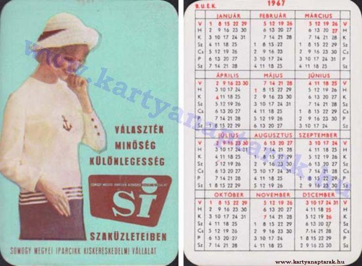 1967 - 1967_0112 - Régi magyar kártyanaptárak