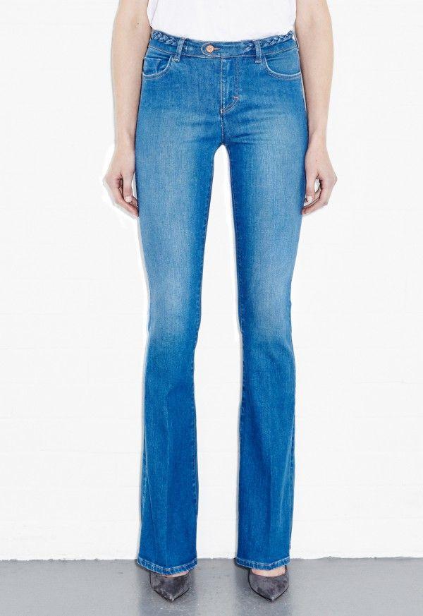 Bodycon Marrakesh Jean - High rise, slim kick flare - Lupin - MiH Jeans