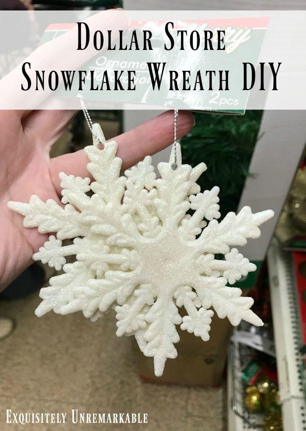 Dollar Store Snowflake Wreath | Diy christmas snowflakes ...