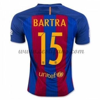 Barcelona Fotbalové Dresy 2016-17 Bartra 15 Domáci Dres