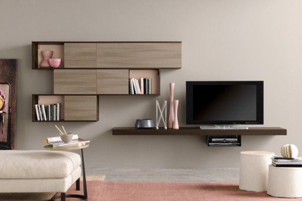 Wall-mounted cabinet is really a smart design for saving space.
