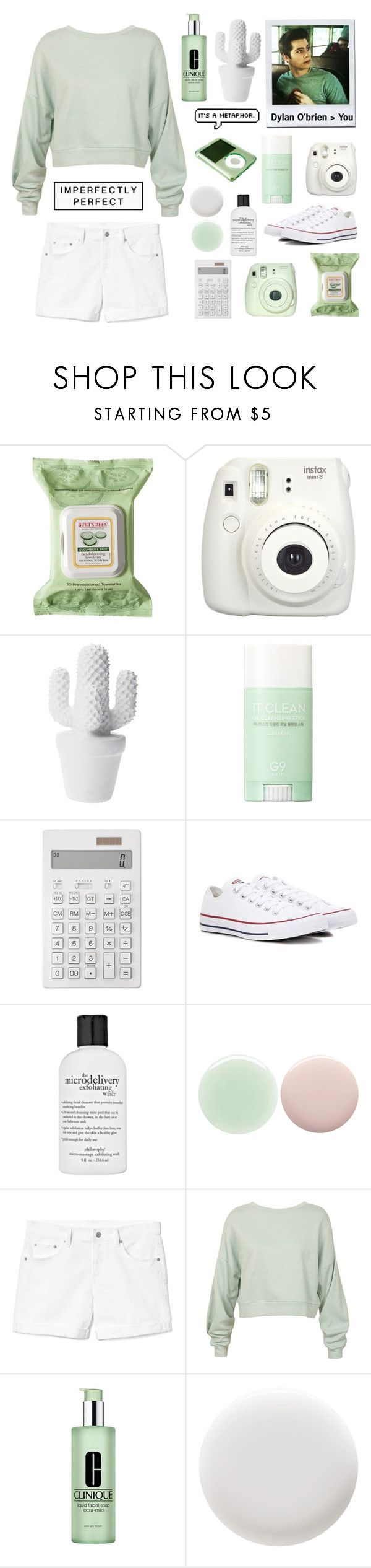 """""""RTD!"""" by switchkid ❤ liked on Polyvore featuring Burt's Bees, Fujifilm, Forever 21, Muji, Converse, philosophy, Nails Inc., Gap, Sans Souci and Clinique"""
