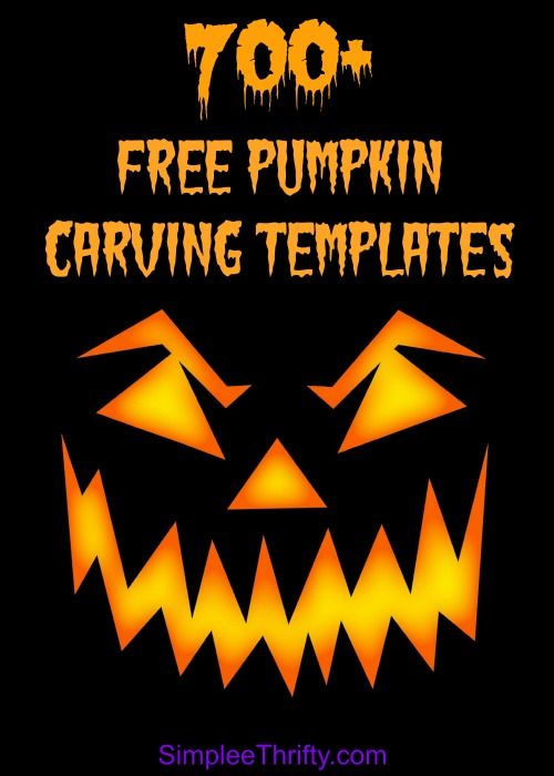 FREE Pumpkin Carving Templates | Over 700 FREE Printables