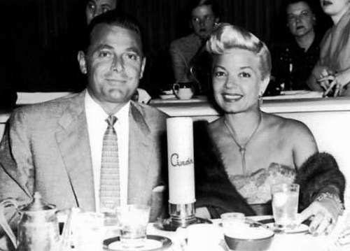 Jon Hall and wife Frances Langford dining at Ciro's