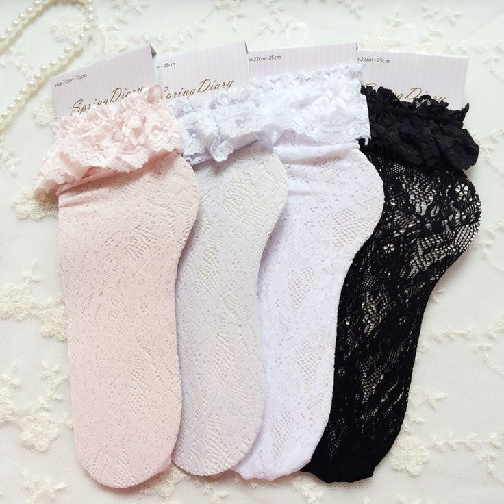 Find More Socks Information about Fashion Women Lace Ruffle Frilly Ankle Socks Lovely Cute Vintage Retro Floral Lady High Quality White sweet Princess  loose sox,High Quality sock women,China womens wool socks Suppliers, Cheap sock purse from S & B Boutique on Aliexpress.com