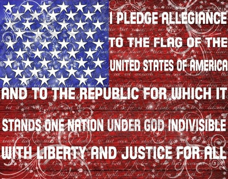 The Pledge of Allegiance....asking God to make America HIS again......Holy Spirit come, convict hearts ( starting with me ) where conviction is needed, soften our hearts to hear and obey Your Word. In Jesus' name I pray. Amen.