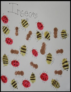 I is for INSECTS: bumblebees, ladybugs & ants  This is perfect for an Insect Unit in April for my Pre K Class!