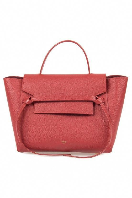 8df6fe9142  3 Celine Belt Bag in Red Grain Calfskin