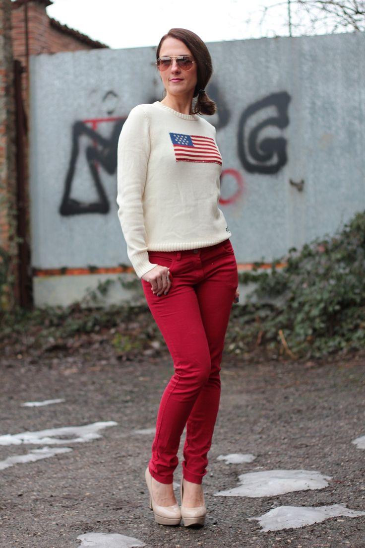 Flag sweater by Maggie Dallospedale International Fashion Blogger #kissmylook