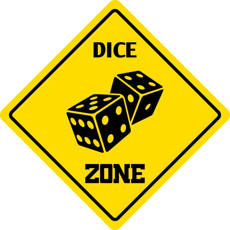 "Aluminum Dice Zone Funny Metal Novelty Sign 12""X12"""